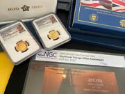 2020 400th Anniversary Of The Mayflower Two-coin Gold Proof Set Ngc Pf70 And Pf69
