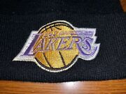 Los Angeles L.a. Lakers Vintage 90's Knit Hat Beanie Drew Pearson 1 Owner Clean