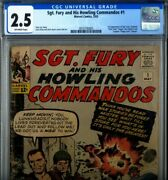 Primo Sgt Fury And Howling Commandos 1 Gd+ 2.5 Cgc Lee Kirby Nick Marvel Comics