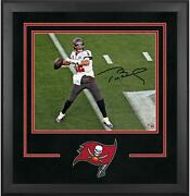 Tom Brady Buccaneers Super Bowl Lv Champs Frmd Signed Dlx 16 X 20 Action Photo