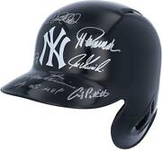 2009 Ny Yankees Signed Batting Helmet With Mvp Insc And Multiple Signatures