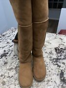Ugg Boots Size 9 Tall Otk Bailey Button Over The Knee Chestnut Nwob Htf Rare