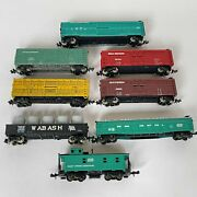 Lot Of 8 N Scale Stock Cars Gondolas Caboose Pc Wabash Southern Great North Nos