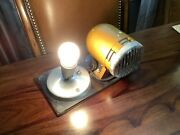 Vintage 1970's Cold War Air Raid Police Fire Rescue Horn Siren And Light Loud