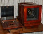 Burke And James Ingento 8x10 Wet Plate Camera W/ Wetplate Holder Has 48 Bellows