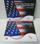 2019 Us Mint Uncirculated Set _ With Cardboard Box And Penny