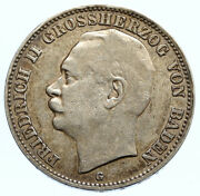 1908g Baden German State King Frederick Ii Eagle Crown Silver 3 Mark Coin I96779