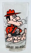Dudley Do-right Canoe Pepsi Collector Series P. A. T. Ward 1970's 10 Oz Glass