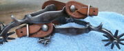 North And Judd Anchor Marked Star Pattern Iron Horse Cowboy Spurs Basket Straps