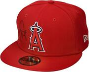 Mike Trout Los Angles Angels Autographed New Era Cap Signed In Black