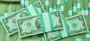 2 - 100 Real Us Currency Money Two Dollar Notes Lot Of 100 2 Bills 1976 - 2017