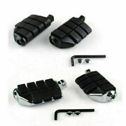7963 Dually Footpegs With Adapter For Softail Sportster Xl Dyna Super Glide Cvo`