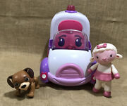 Disney Doc Mcstuffins Rosie The Rescuer Ambulance With Doll Lambie And Dog
