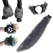 Pawstar Classic Wolf Combo - Full Tail - Furry Costume Cosplay Cat Kitty 4208
