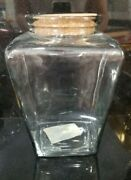 Large Glass Storage Canister Bottle With Cork Lid Large 10 Cup 2.5l Capacity