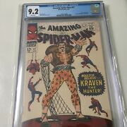 Amazing Spider-man 47 Cgc 9.2 Rare White Pages Kraven The Hunter