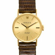 Rolex Orchid Number 41 Yg Razor Women And039s Hand-wound Gold Dial 2671 No.7434