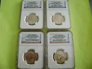 2007-08-09-10-2011-pandd Ngc First Day Of Issue Presidential 38-coin Dollar Set