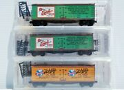 Beer Reefers N Scale Micro Trains Line 40' Wood Sheathed Reefers Set Of 3.