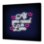 All You Need Is Love Neon Sign Modern Design Canvas Print Wall Art Picture