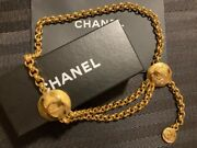 Chain Belt Gold Cc Mark Vintage Accessories Goods From Japanese K11201