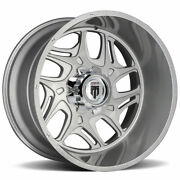 24x14 American Truxx At1900 Sweep 8x6.5/8x165.1 -76 Brushed Texture Wheels Rims