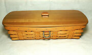 Longaberger 2008 Mail And Bill Basket Sort And Store With Woodcrafts Lid Euc