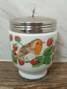 ☆rare☆ Egg Coddler Royal Worcester Jumbo Size Birds And Berries Pattern ☆look☆