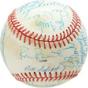 1983 Nl Team Signed Old Timers Cracker Jack Baseball With Mult Sigs - Bas A66563