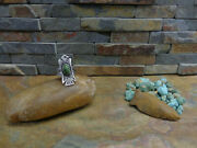 Amazing Navajo Thunderbird Whirling Log Arrow Cerrillos Turquoise Sterling Ring