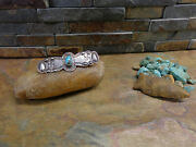 Best Navajo 2 Whirling Log Turquoise Brooch Pin Sterling Old Pawn Fred Harvey