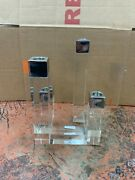 Orrefors Crystal Candlestick Candle Holder New No Box