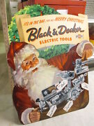 Black And Decker 1953 Electric Power Tool Christmas Store Display Sign Santa Claus