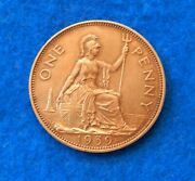 1939 Great Britain Penny - Very Nice Coin - See Pictures