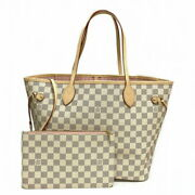 Louis Vuitton Neverful Mm Damier Azul N41605 Tote Bag With Pouch No.4731