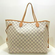 Louis Vuitton Neverful Gm Tote Bag Azul Damier Canvas Previously Owned No.4730