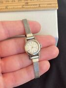 Vintage Ladies Jaeger Lecoultre Mechanical Wind Stainless Swiss Wrist Watch Runs