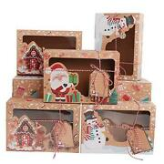 12 Pack Christmas Cookie Boxes Large Holiday Bakery Gift Boxes With Paper