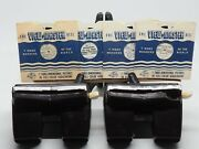 View-master 2-brown Model E Viewers And Four 3-reel Nature Picture Sets V2-094