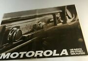 1976 Motorola Car Radios And Stereo Tape Players Fold Out Brochure