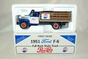 First Gear 1951 Ford F-6 Full Rack Stake Truck Pepsi-cola 134 19-1091