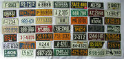 Complete Set 49 1954 Wheaties Cereal Premium License Plates Including Dc Plate