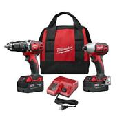 Hammer Drill/impact Driver Combo Kit 18-volt Lithium-ion Variable Speed Cordless