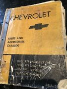 1964-1971 Chevrolet Parts Chassis And Body Illustration Catalog Chevelle Camaro
