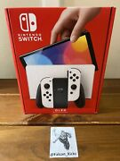 Brand New Nintendo Switch Oled Model W/ White Joy-con In Hand Free Shipping