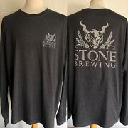 Stone Brewing Company Official Menand039s Demon Logo San Diego Craft Beer T-shirt 3xl
