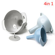 4 In 1 Colorful Plastic Funnel Small Medium Large Variety Liquid Oil Kitchens C2