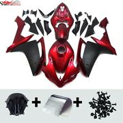 Motorcycle Abs Fairings For Yamaha Yzf R1 2007 2008 Red Black Injection Bodywork