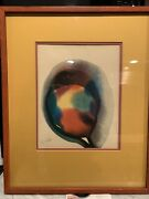Watercolor On Paper By Listed Artist Paul Jenkins Abstract Expressionist Signed