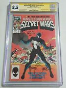 Secret Wars 8 Variant Cover Cgc 8.5 Signed By John Beatty And Michael Zeck